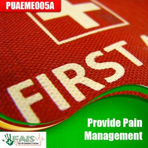 Provide Pain Management Training Course